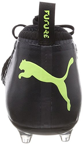 Puma Future 18.2 Netfit FG/AG, Chaussures de Football Homme Noir (Puma Black-fizzy Yellow-asphalt)
