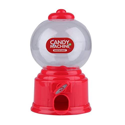 LasVogos Plastic Machine Mini Caramelo de Gumball de la Burbuja dispensador de Monedas del Banco niños de Juguete para Gumballs Cacahuetes Caramelo pequeño y Snacks