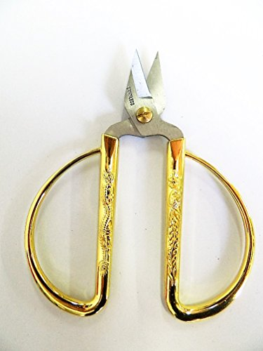 Ciseaux doré De Bonsaï pinceur pour bourgeons, en métal 120mm