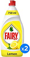 Fairy Lemon Dish Washing Liquid Soap Dual Pack 750ML@25%