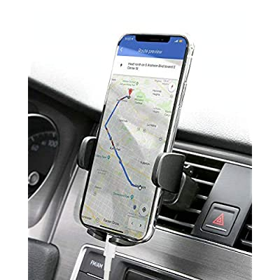 AUKEY Supporto Cellulare Auto 360 Gradi di Rotazione (Garanzia a Vita) Porta Telefono Auto Universale per iPhone X / 8/7 / 6, Samsung S9 / 8/7, Xiaomi, Huawei e GPS Dispositivi