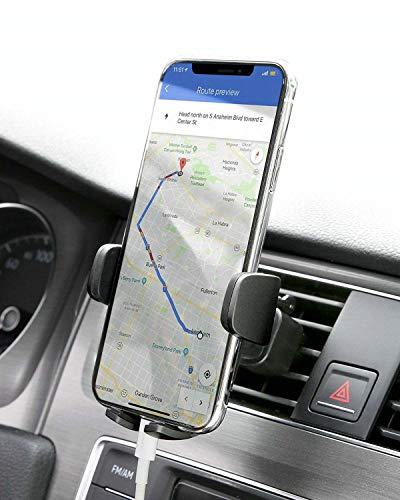 AUKEY Supporto Cellulare Auto 360 Gradi di Rotazione (Garanzia a Vita) Porta Telefono Auto Universale per iPhone X / 8/7 / 6, Samsung S9 / 8/7, Xiaomi, Huawei e GPS Dispositiv