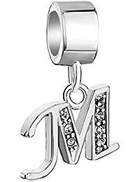 Uniqueen playa zapatos de cristal de plata de ley 925Charms Dangle Bead para Pandora/Troll/Chamilia pulsera