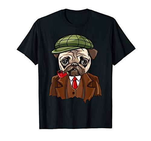 Mops Detektiv Hund T-Shirt