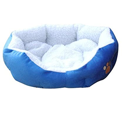 Gift New Coffee Warm Soft Fleece Pet Dog Cat Bed House with Mat Soft Pad Mat 1