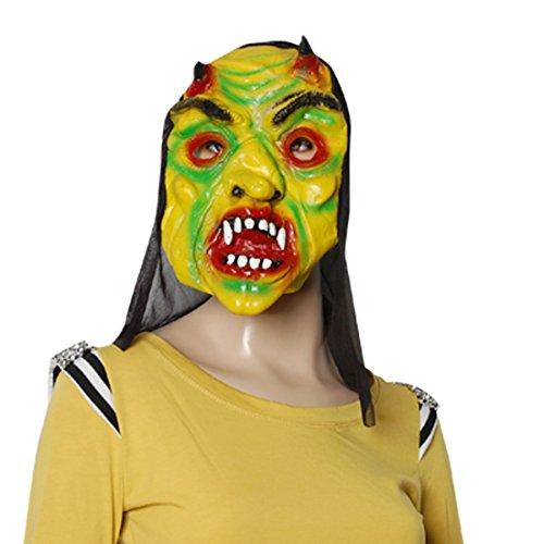 Halloween OX Insane Horn Offenes Scary Silikon-Maske (Masken Insane)