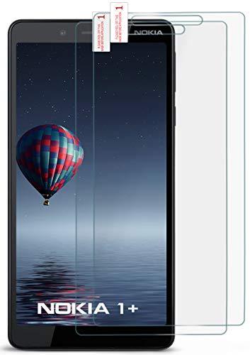 moex 2X 9H Panzerfolie für Nokia 1 Plus | Panzerglas Display Glasfolie [Tempered Glass] Screen Protector Glas Displayschutz-Folie für Nokia 1 Plus Schutzfolie (Nokia X Screen Guard)