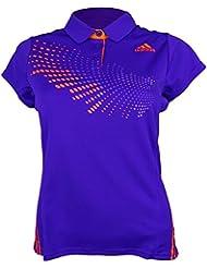 adidas Polo (BT Graph, todo el año, unisex, color NGTFLA/SOLRED, tamaño XXS