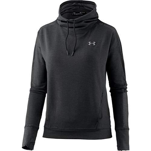 Under Armour Damen Fleece (Under Armour Damen Featherweight Fleece Funnel Langarmshirt Featherweight Fleece Funnel, Schwarz (Black/Graphite), L (Herstellergröße: L))