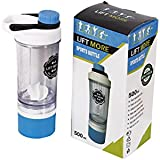 Lift More 500ml Protein Shaker Bottle Water Bottle Shaker Gym Shaker Bottle With 3 Layer Twist-n-Lock Protein And Pills Container, Workout Shaker Cup With Non-slip Design, BPA-Free