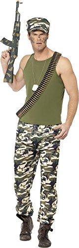rren Armee Kostüm, Größe: XL, grün (Militär Kostüme Männer)
