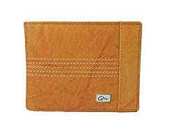 Gentleman Genuine Leather Mens Stylish Wallets for Boys Tan Bi Fold with 5 Credit Debit Cardholder