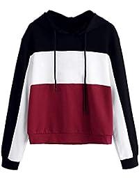 Sudaderas Mujer,Mujer Moda Sudadera con Capucha Blusa Jersey Tops Camisetas Abrigo Chaqueta Outwear