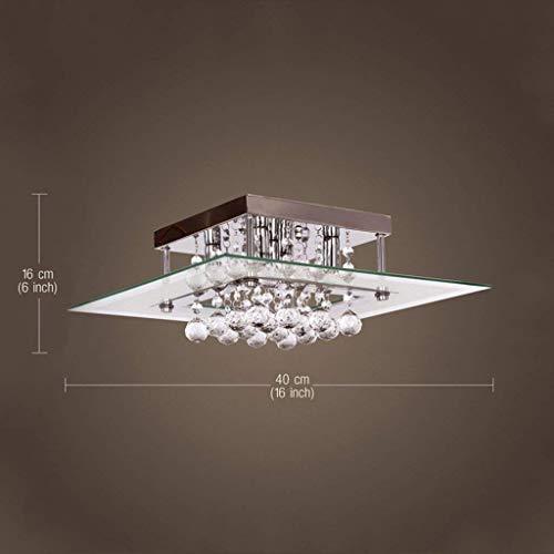 OYY Lampe de plafond carrée moderne en acier inoxydable, en acier inoxydable, simple abri de la lumière de la lampe à poser Lounge Lounge de plafond 16 * 40Cm Color Select (A) avec usage domestique,A
