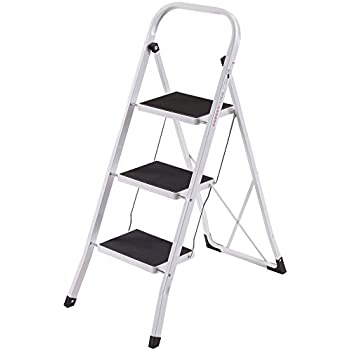 Miraculous Foldable 2 3 4 Step Ladder Non Slip Tread Stepladder Squirreltailoven Fun Painted Chair Ideas Images Squirreltailovenorg