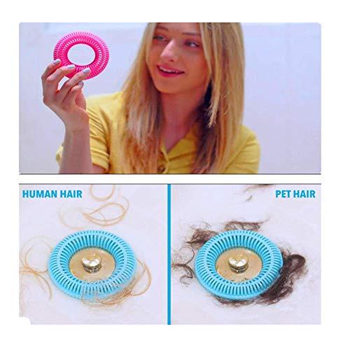 Abflusssieb Silikon und Haarsieb für Dusche, BodenabläUfe,Waschbecken,Wahnsinnig Praktisch,Ring Tub Drain Stopper Silicone Flex Drain Stor Hair Catcher,Anti-Clogging Filter (Pink, A)
