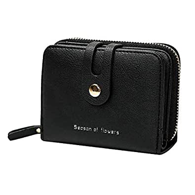 ATR Women's Wallet Multicolor Leather Fashion Vintage Short Simple Small Zipper Coin Purse(4.7x1.6x3.5inch)