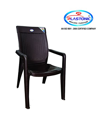 Plastonic By Higadget 702 President Moulded Furniture Plastic Chair (Set Of 2 Pcs)