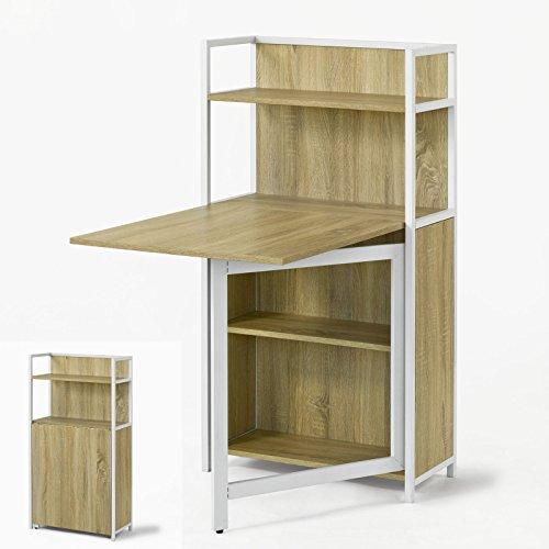 Promotion -30%! SoBuy® FWT12-N Table pliante Armoire avec table pliable intégrée Table d'ordinateur, Table de cuisine table de rapas Bibliothèque Bureau