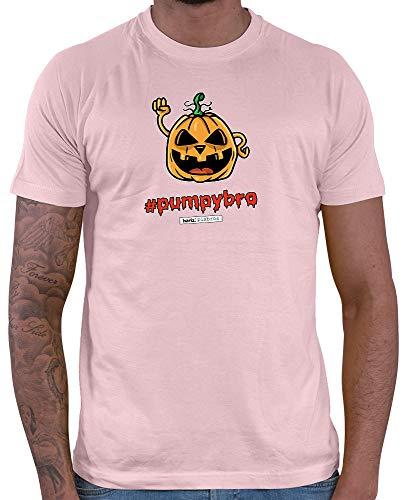 HARIZ  Herren T-Shirt Pixbros Pumpybro Halloween Kostüm Horror Umhang Plus Geschenkkarte Rosa M (Rosa Ninja Halloween-kostüm)
