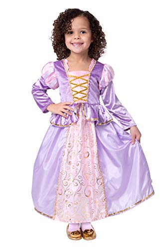 ssische Rapunzel Mädchen Prinzessin Kostüm-groß (5-7Jahre) ()