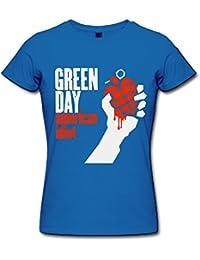 H 'nan Mujer Green Day American idiota Logo Camisetas