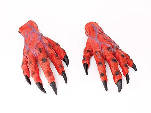 Bristol Novelty MD161Horror Hände, rot, Einheitsgröße