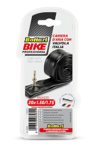 Bottari Bike, Italien, mit Ventil, schwarz, 20 x 1,5/1,75 C