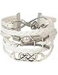 19 Likes Fancy Charms White Metal Alloy Bracelets For Girls