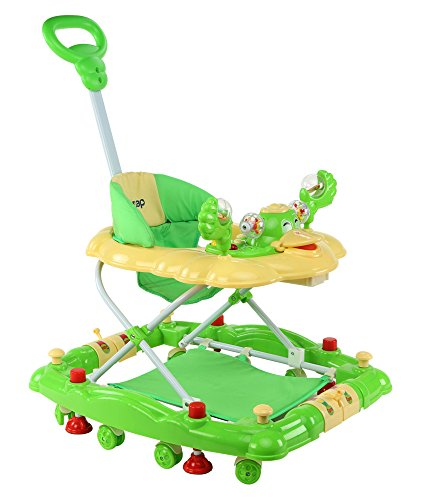 LuvLap Comfy Baby Walker with Rocker - Green