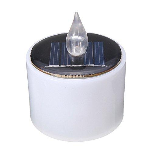ZhengFei Weihnachten Energy Battery Warm Flicker Flameless LED Solar Licht Betrieben Beleuchtung Blinkende Kerze Teelicht Hochzeit Home Decoration Solar Lights Garden (Größe : Warmweiß) (Teelicht Batterie Betrieben)