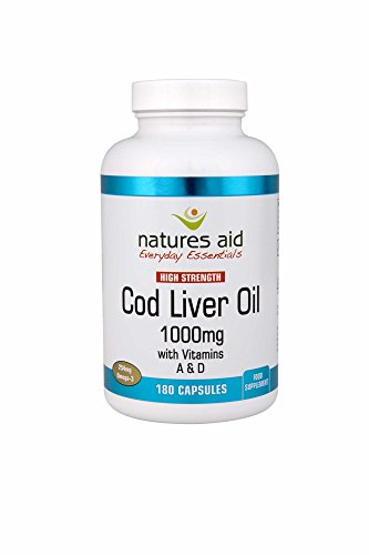 Natures Aid Cod Liver Oil High Strength (1,000mg, 180 Capsules) by Natures Aid