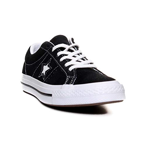 Converse One Star (Converse Jungen Lifestyle One Star Ox Sneakers, Schwarz (Black White 001), 36 EU)