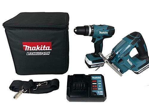 Makita DK14009X1 Kombi-Bohrschrauber 14,4 V HP347D, JV143D und Stichsägen-Set, 18 V
