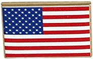 Emblematic Jewelry USA Flag Pin- Made in America (Dimensionally Printed)