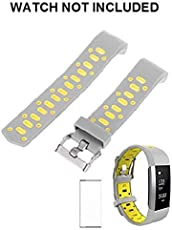 """Brain Freezer Soft Silicone Adjustable Replacement Sport Strap for Fitbit Charge 2 (Small 5.5"""" - 6.7"""")"""
