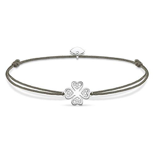 THOMAS SABO Damen Armband Little Secret Kleeblatt 925er Sterlingsilber LS054-401-5