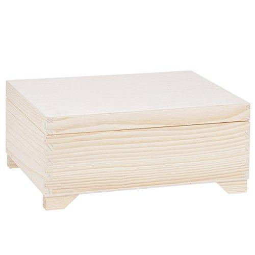 Holzkiste 2 Einsätze 30 x 20 cm Lebensmittelkiste Haushaltskiste Holz Holzkistchen (Klappbar Holz-schmuck-boxen,)