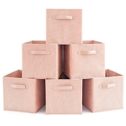 EZOWare Caja de almacenaje, perfecta para guadar sus cosas.  Ligera, simple y con diferente colores por su puesto, 6 cajas por un paquete.   Medidas:  Ancho-26.7cm  Altura-28cm Profundidad-26.7   Material:  Bordados superpuestos de fieltro/ velo tran...