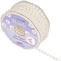 Eleganza No.1 filo di perla, in plastica, colore: bianco, 6