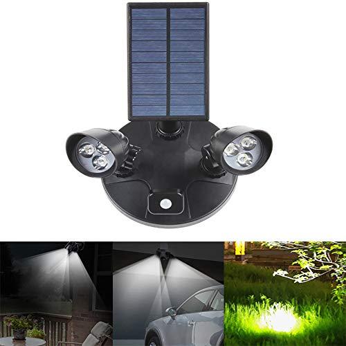 FGAITH Outdoor Solar Body Induction Garten Wandleuchte Solar Doppelkopf Integrierte Straßenleuchte - Abd-batterie