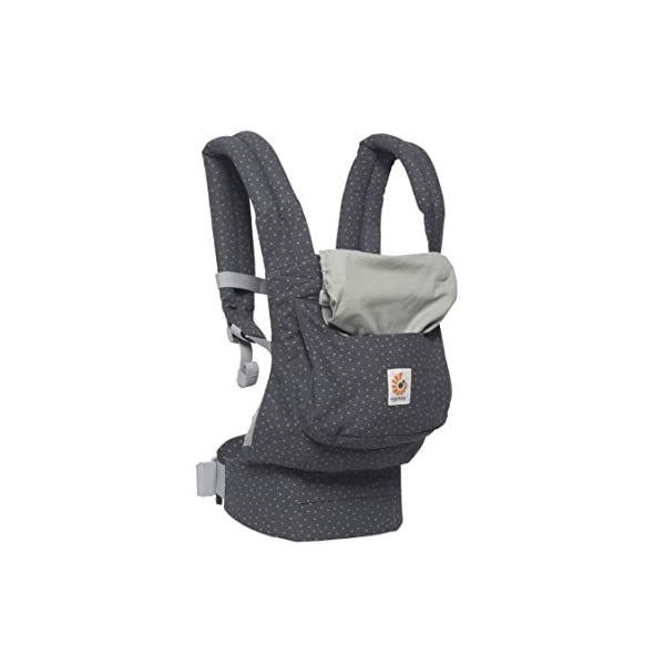 "Ergobaby Baby Carrier Toddler Front Back Original Starry Sky, 100% Cotton Ergonomic 3-Position Child Carrier Backpack Ergobaby Ergonomic Baby Carrier - Ergonomic for baby with wide deep seat for a spread-squat, natural ""M"" seated position. Baby carrying system with 3 carry positions:  front-inward, hip and back. From baby to toddler: 5.5*-15 kg (* from 3.2-5.5 kg / 7-12 lbs with Infant Insert, sold separately). Wearing comfort - All-day comfort with extra-padded shoulder straps (1 inch high density foam) and padded waistbelt  (1/4 inch) 5"