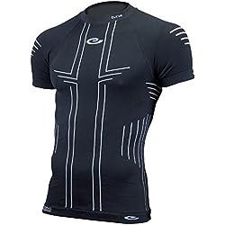 Eltin Pro - Camiseta de manga corta para hombre, color negro, talla L
