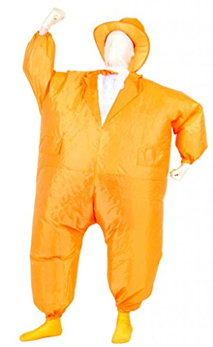 (Tuxedo Tux Inflatable Teen Chub Suit Costume (Orange))