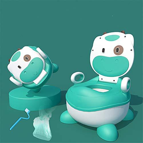 HJJGRASS Kinder Toilette Toilette Urinal Potty Trittschemel Extra Large WC Verdickte Aufstockung Design-Fach-Art Vieren Autonome WC 1-6 Jahre Alt,Grün,Normal