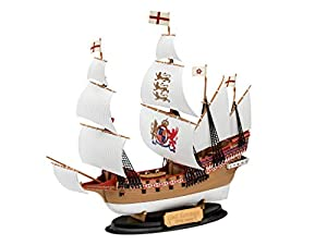 Revell easy-click 65661 Model Set HMS Revenge, 1:350 Modellbausatz für Einsteiger mit dem Easy-Click-System, mit Basis-Zubehör, farbig