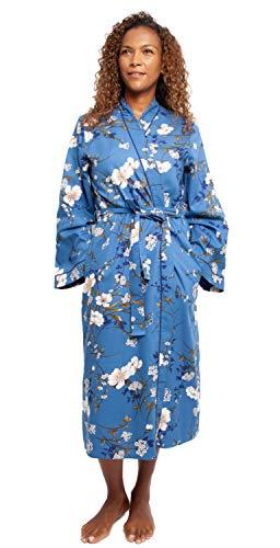 Cyberjammies 4371 - Albornoz de algodón Suave con Estampado Floral Azul para Mujer Azul Azul 46