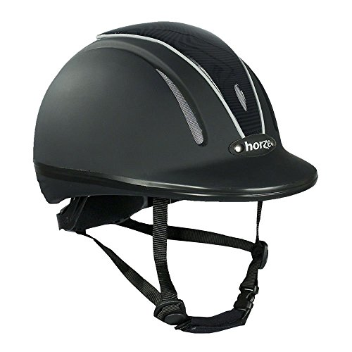 Horze Pacific Reithelm verstellbarer Helm VG1 Defenze, Black, Gr. S-M