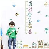 Kinder Anzahl Höhe Maß Wandaufkleber für Kinderzimmer Wohnkultur Cartoon Haus Wachstum Chart Wandtattoos PVC Wandbild Kunst