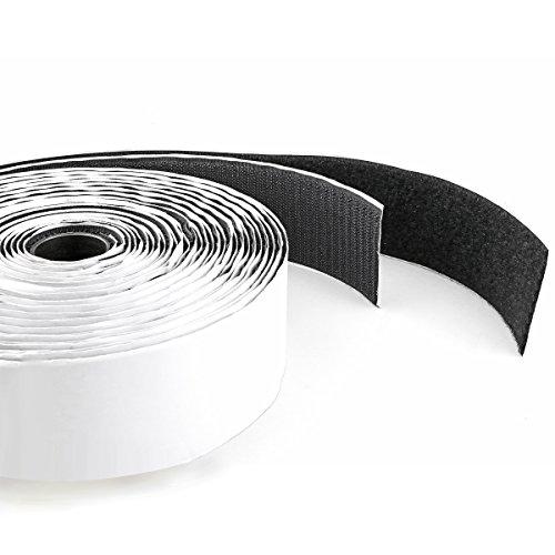 vorgestellt Haken & Schleife selbstklebend gurthalteband, HT-5005L/BK, 2